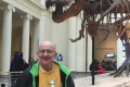 """T-Rex nick=named """"Sue"""" sneaking up on unsuspecting tourist to perpetrate bullying at the Field Museum"""